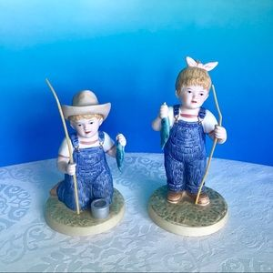 """Denim Days"" porcelain figurine"